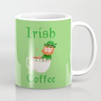 irish Mugs featuring Irish Coffee by Supergna