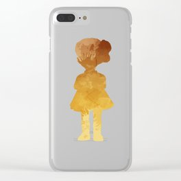 Girl Inspired Silhouette Clear iPhone Case