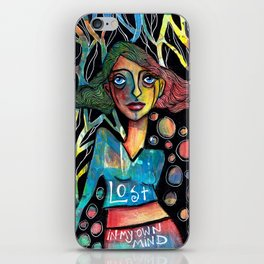 Lost in my own mind iPhone Skin