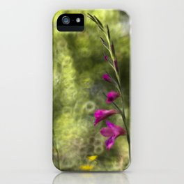 Gladioli and buttercup iPhone Case