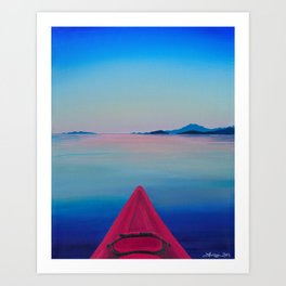 Kayak Series #1: Comox Art Print