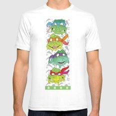 Teenage (a Little Too Mutated) Ninja Turtles White SMALL Mens Fitted Tee