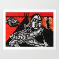 biggie Art Prints featuring BIGGIE  by NICHOLAS PRICE ART PRINTS