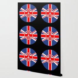 Brit Flag Peace Sign Roundel Wallpaper