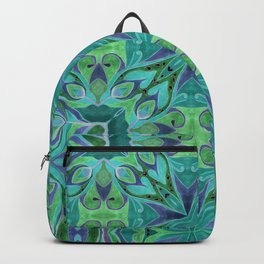 Turquoise abstract watercolor Backpack