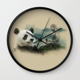 Panda meditating Wall Clock
