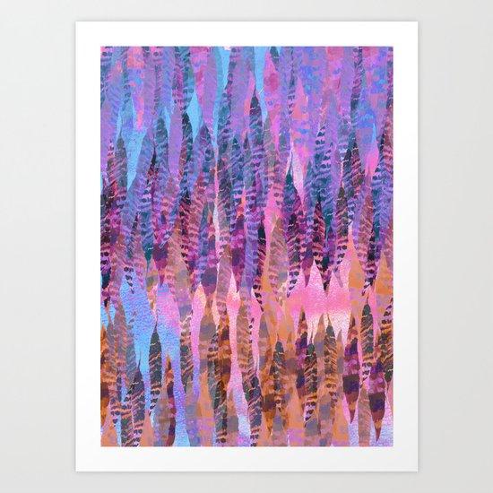 Tie Dye Feathers Art Print