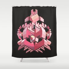 My Heart Is Made of Lasers Shower Curtain