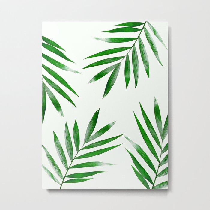 Green Palm Art Metal Print