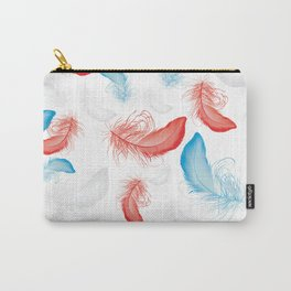 Seamless Pattern with Feathers Carry-All Pouch