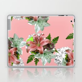 LILY PINK AND WHITE FLOWER Laptop & iPad Skin