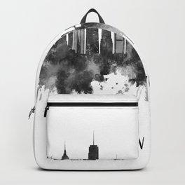 New York City New York Skyline BW Backpack