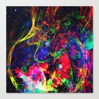 big bang Canvas Prints featuring Big Bang by haroulita
