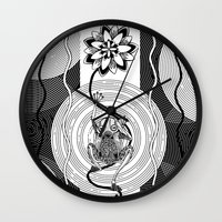 frog Wall Clocks featuring Frog by alicanto