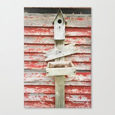 Rustic Birdhouse Canvas Print