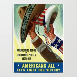 Americans lets all fight for victory Poster