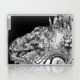 Black And White Iguana Art - One Cool Dude 2 - Sharon Cummings Laptop & iPad Skin