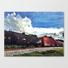 Rolling Locomotive Canvas Print