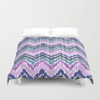 ikat Duvet Covers featuring Ikat Chevron by Noonday Design