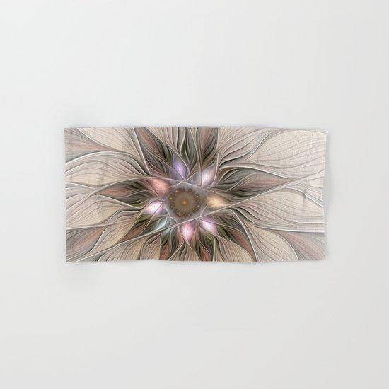 Joyful Flower, Abstract Fractal Art Hand & Bath Towel