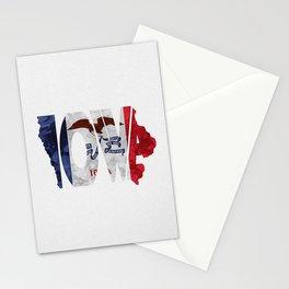 Iowa Typographic Flag Map Art Stationery Cards