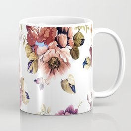 Pretty Pink Textured Flowers Coffee Mug