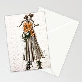 Cozy country walk Stationery Cards
