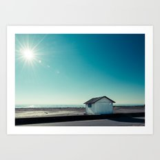 beach cabin Art Print