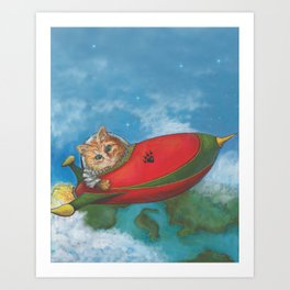Major Tom Searches for Mouse Island Art Print