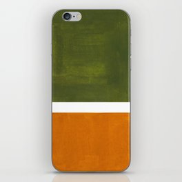 Olive Green Yellow Ochre Minimalist Abstract Colorful Midcentury Pop Art Rothko Color Field iPhone Skin