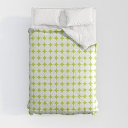 Abstract green and white pattern 01 Comforters