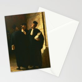 "Honoré Daumier ""Three Lawyers"" Stationery Cards"