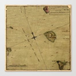 Map Of Great Britain 1631 Canvas Print