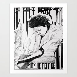 He Felt Speed Art Print