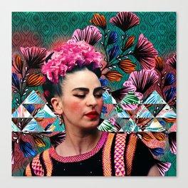 Flowery Frida Canvas Print