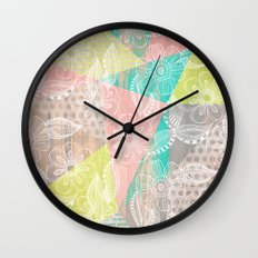 Floral MIX Wall Clock