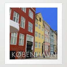 København - Nyhavn Art Print