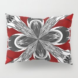 Red Black and White Kaleidoscope Pillow Sham
