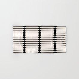 Minimal Geometric Pattern - Black Hand & Bath Towel