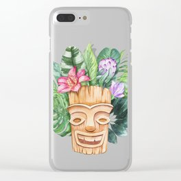 Tropical totem. Clear iPhone Case
