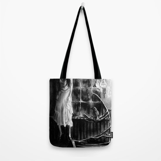 The magic of that Christmas tree. It wraps itself around us every year and will go on forever. Tote Bag