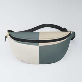 4 Quarters Green & Beige Blocks Inspired by PPG Glidden Colors of 2019 Night Watch and Accent Color Fanny Pack