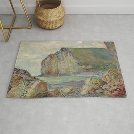 """Claude Monet """"Falaises des Petites-Dalles"""" Rug"""