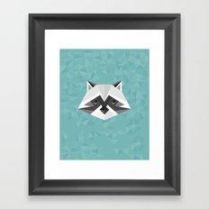 Geometric Racoon Framed Art Print
