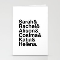 orphan black Stationery Cards featuring Orphan Black by Elanor Jarque