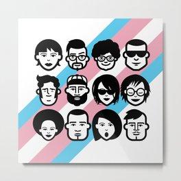 Trans pride lgbt lgbtqia gay pride equality transgender Metal Print