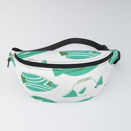 Midcentury Fish - Turquoise and Evergreen Fanny Pack