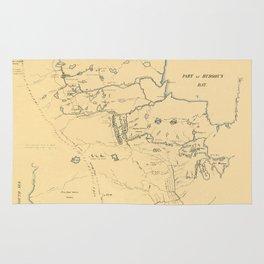 Map Of Hudson Bay 1785 Rug