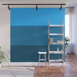 Blue Gradient Pattern Wall Mural