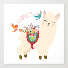 Llamaste - When A Llama Offers You A Respectful Greeting Canvas Print